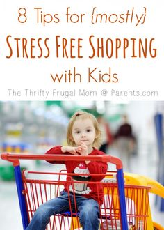8 Tips for {mostly} Stress Free Shopping with Kids---tried and true tips from a mom of 3