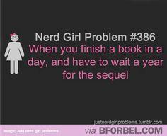 b for bel: Nerd Girl Problems #geek
