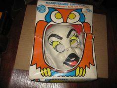 Vintage Ben Cooper GHOST Childrens HALLOWEEN COSTUME & MASK w/Box | eBay