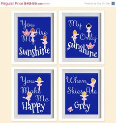 ON SALE You Are My Sunshine Nursery Art Print  by MadeForYouPrints, $37.95
