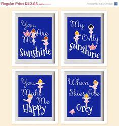 ON SALE You Are My Sunshine Nursery Art Print  by MadeForYouPrints, $37.95