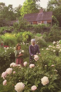In love with this whole space: Tasha Tudor, a New England jewel. Gardening was just one of her brilliant talents. She had the house built to deliberately look old and weathered.