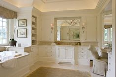 Weston Residence - traditional - Bathroom - Boston - SLC Interiors cabinets, interiors, bathroom designs, white bathrooms, tradit bathroom, slc interior, master baths, towel storage, bath design