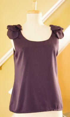 SewPetiteGal: Petaled Shoulder Sleeveless Top DIY Tutorial