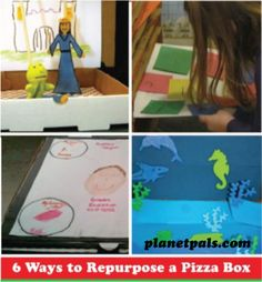 Pizza Boxes...Recycled and Repurposed for the Classroom or Homeschool!