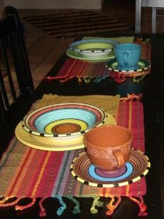 A customer shared this photo of our dinnerware on their table in San Felipe, Mexico. Nice mix of our Acapulco and Aztec patterns! #madeinUSA