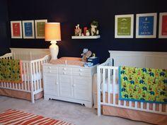 bright nursery, dark walls