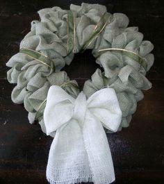 holiday, decor, homemade wreath ideas, burlap wreaths, crafti, projectscraft idea, hous, diy burlap, thing