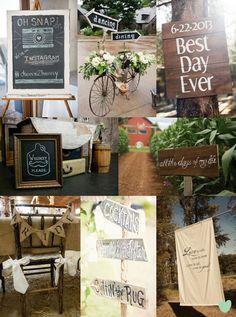 Rustic Wedding Signs Mood Board