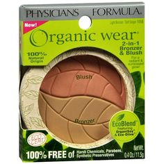 Organic makeup you can get at a drugstore or click through to buy