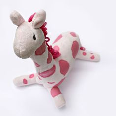 We Lived Happily Ever After: Hot Pink Giraffe Pattern is now Available! {Plus some Stuffed Animal Making Tips!}