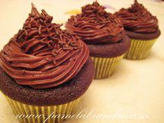 Cupcake de Chocolate com Buttercream de Ovomaltine