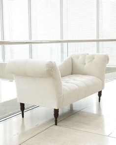 "White ""Pandora"" Settee at Horchow - for the end of the bed"