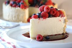 Frozen Lime Torte with Mixed Berries.  No baking required.