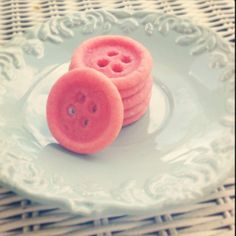 Cute as a button -pink button cookies.... Perfect for a birthday or baby shower!