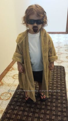Original Homemade Toddler Costume: The Dude from Big Lebowski... Coolest Halloween Costume Contest