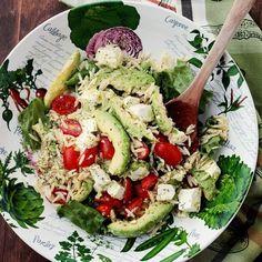 Avocado and Feta Cheese Orzo Salad Recipe | Diethood