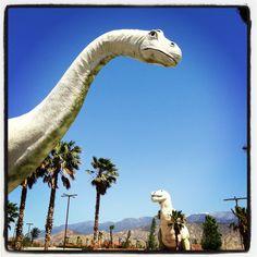 Dinosaurs near Palm Springs CA.