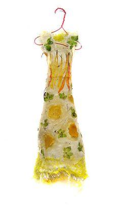 miniature fairy dress flower petal yellow