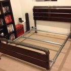The Perfect Bed Frame for the Industrial Bedroom... This site has lots of diy furniture using pipe