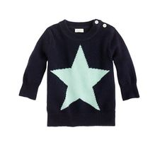 J Crew baby cashmere star sweater
