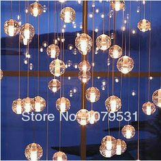 Moden Bocci G4 LED Meteor Shower Chandelier With 7 Lights Glass Sphere / Ball