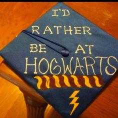 Harry Potter inspired - graduation cap!