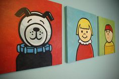 Fisher Price character paintings