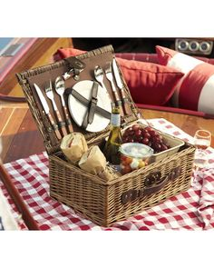 Looking for a gift for a newlywed couple? This picnic basket for two will surely do the trick! Get it here: http://www.bhg.com/shop/pottery-barn-rattan-picnic-basket-for-2-p5097a5f9e4b03f3db75ee7f7.html