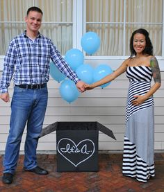 Gender Reveal Photoshoot Using Balloons