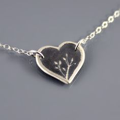 Sterling Silver Nature's Heart Necklace by Lisa Hopkins Design