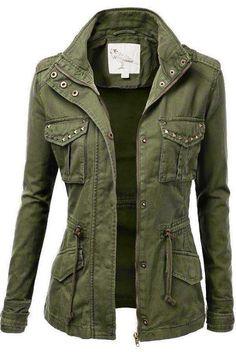 Ladies Military Jacket. #jacket