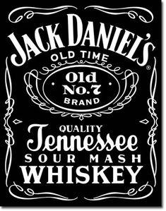 Jack Daniel's Black Tin Sign, $8.95
