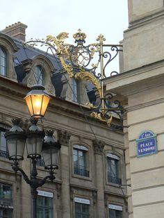 Streetlights at the Place Vendome #Paris