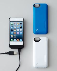 For Father's Day: iPhone 5 Hybrid Snap Case/Battery Charger at Neiman Marcus.