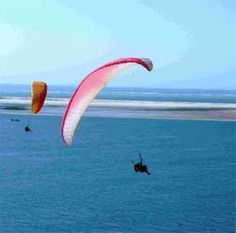 Having a high time paragliding in France