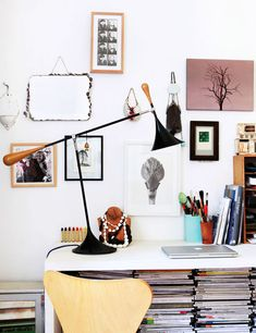 Lamp and desk space