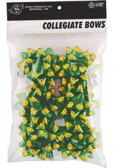 Cute! // #Baylor University 6-Pack gift bows (available at Baylor Bookstore)