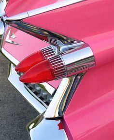 red 1959 Cadillac