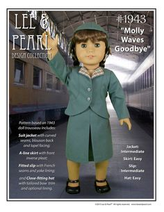 L&P Pattern 1943 Molly Waves Goodbye by leeandpearl on Etsy, $10.99