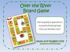 Printable Thanksgiving board game via www.pre-kpages.com