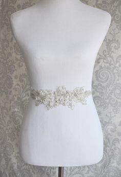 This one?    Crystal Sash Rhinestone Bridal Sash on Floral by januaryrosebridal, $89.00