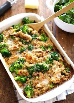 Creamy Chicken Quinoa and Broccoli Casserole | 23 Boneless Chicken Breast Recipes That Are Actually Delicious
