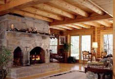 My Log Home Vision Board On Pinterest Log Homes Log Home Kitchens