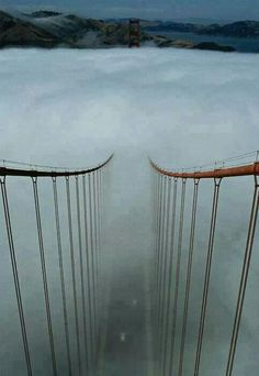 Fog Golden Gate Bridge San Francisco.