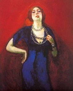 portrait of the artist's wife..kees van dongen