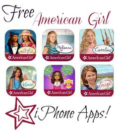 Big List of Free American Girl iPhone Apps. These are great if you have an American Girl Lover in your home. #free #iphone #apps