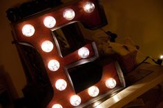 DIY Carnival Marquee Letters