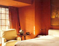cozy rust bedroom