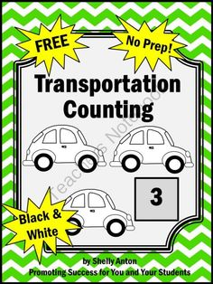 FREE Transportation Math Counting Works Well With Dr. Seuss Activities from Promoting Success on TeachersNotebook.com -  (2 pages)  - Dr. Seuss FREE Transportation: Here is a sample counting page from my Transportation Math Activity Packet. These transportation math pages go along nicely with many children's literature books, including Dr. Seuss - Go, Dog. Go!